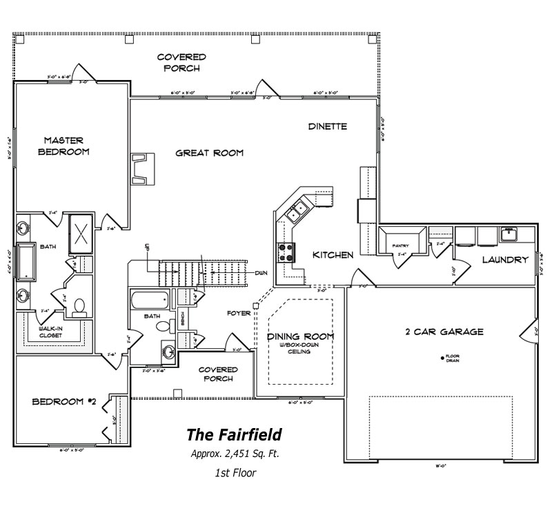 The Fairfield 1st Floor Plan