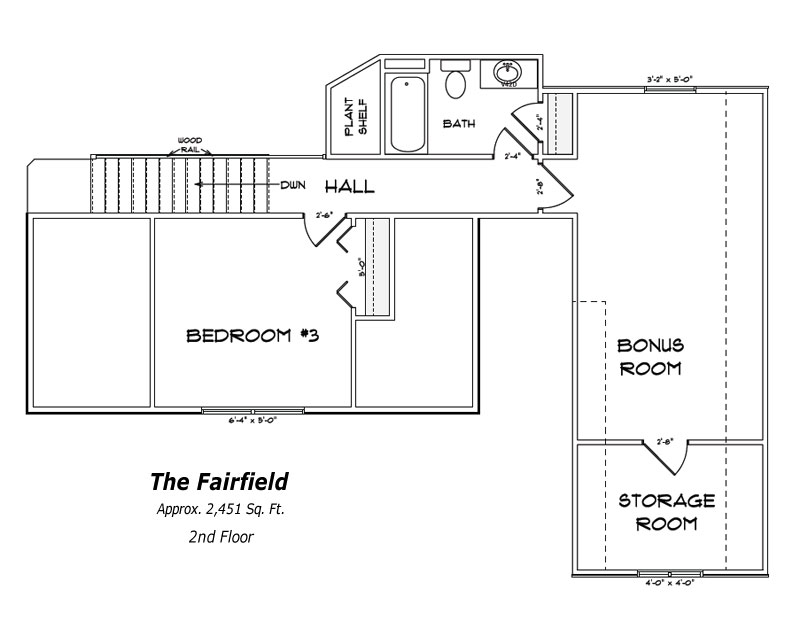 The Fairfield 2nd Floor Plan
