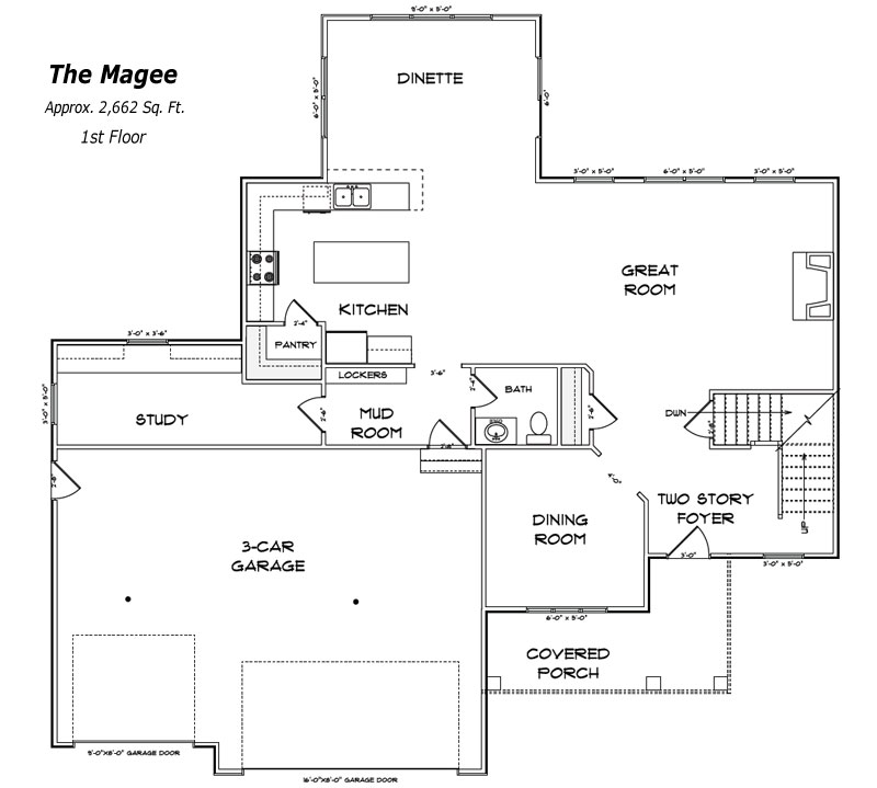 The Magee 1st Floor Plan