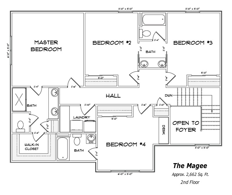 The Magee 2nd Floor Plan